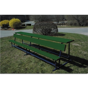 Goal Sporting Goods Bench w/ Shelf-Powder Coated (Dark Green)