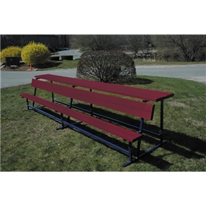 Goal Sporting Goods Bench w/ Shelf-Powder Coated (Maroon)