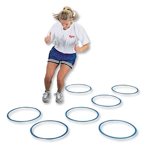 Goal Sporting Goods Flat Fitness Ring (Royal), Set of 12