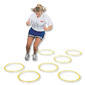 Goal Sporting Goods Flat Fitness Ring, Set of 12 (Yellow)