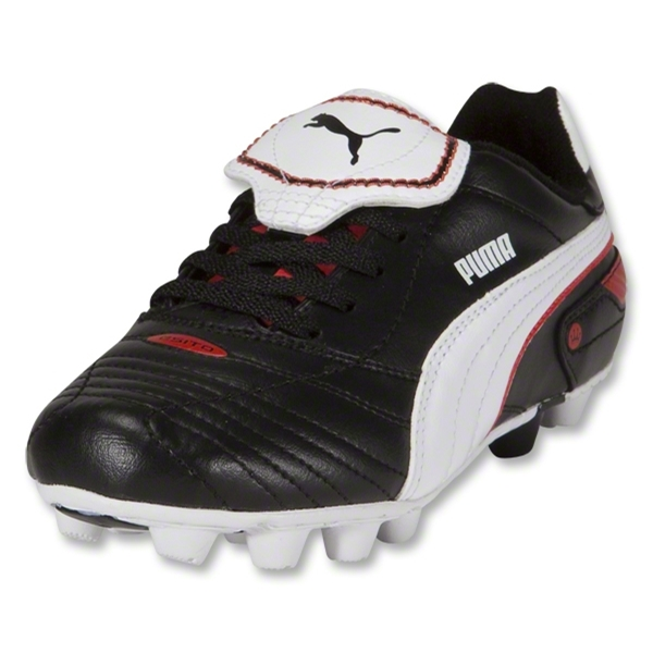 PUMA Esito Finale r HG KIDS Cleats (Black/White/PUMA Red)