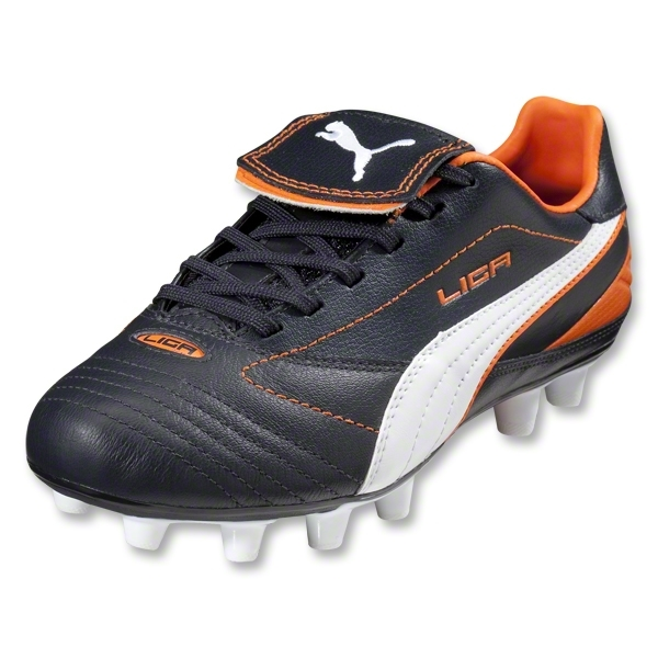 PUMA Liga Finale i FG Women's Cleats (Dark Navy/White/Team Orange)