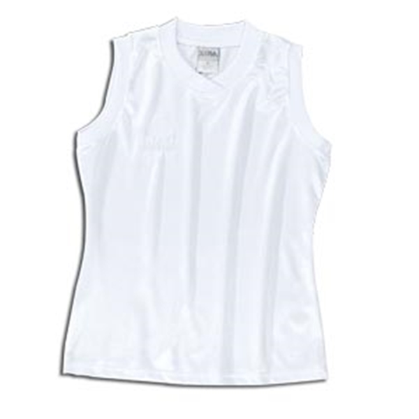 Xara Women's Boston Sleeveless Soccer Jersey (White)