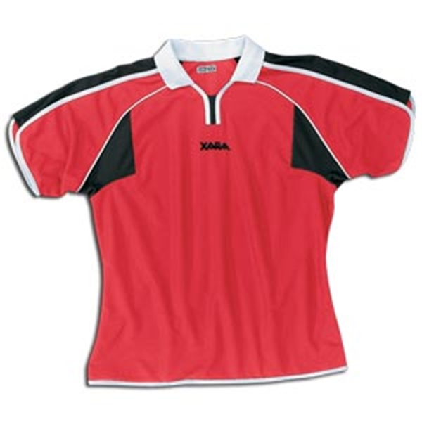 Xara Women's Preston Soccer Jersey (Red/Blk)