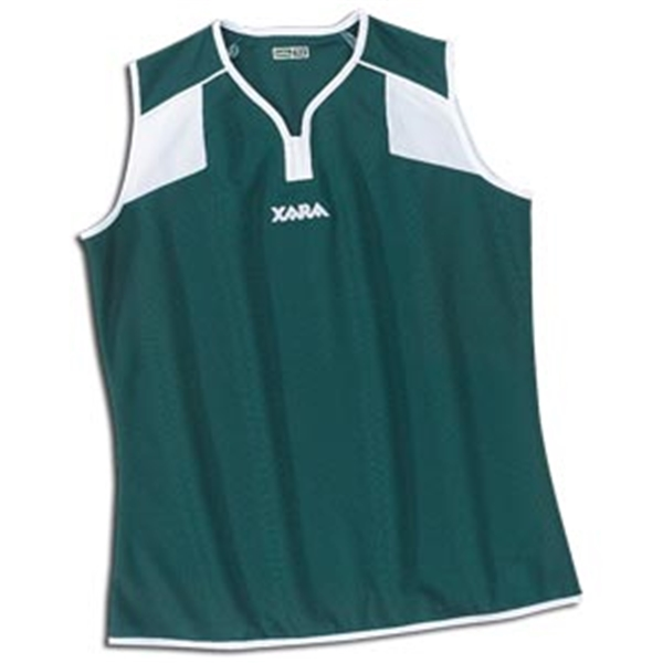 Xara Women's Preston Sleeveless Soccer Jersey (Dark Green)