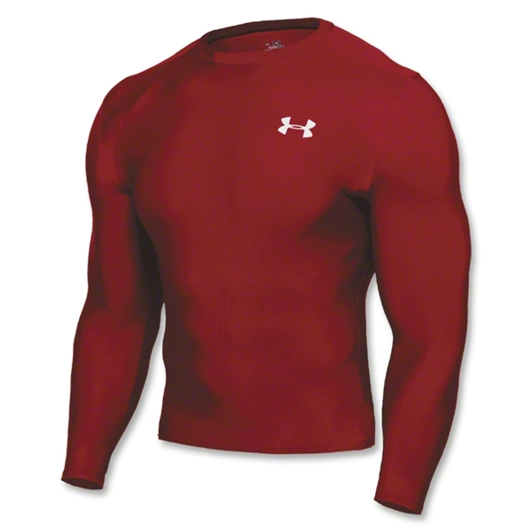 Under Armour HeatGear Compression LS T-Shirt (red)