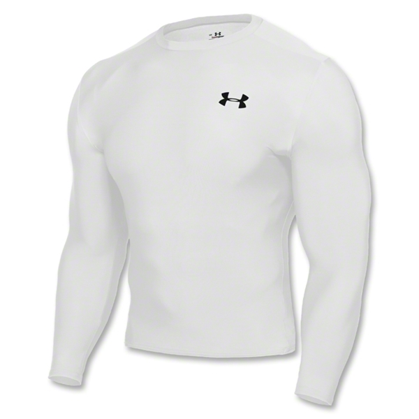Under Armour HeatGear Compression LS T-Shirt (White)