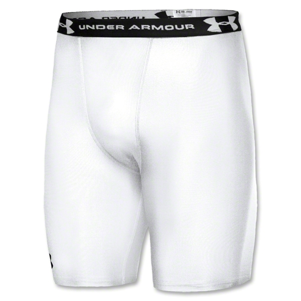 Under Armour HeatGear Compression Short (White)