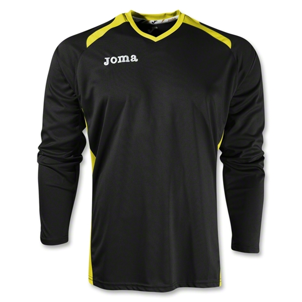 Joma Champion II Long Sleeve Jersey (Blk/Yellow)