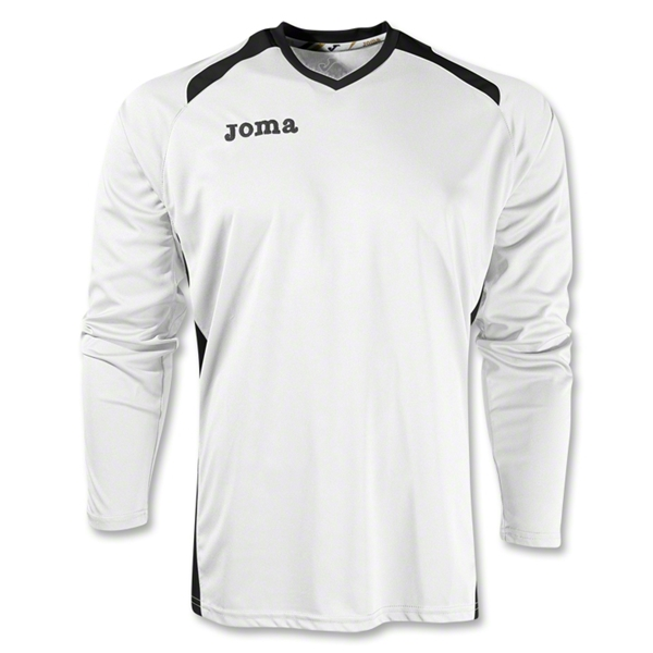 Joma Champion II Long Sleeve Jersey (Wh/Bk)