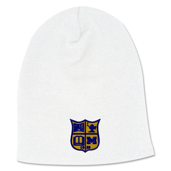 Michigan Rugby Beanie (White)