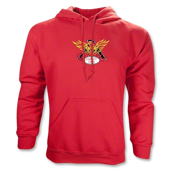 Old White Rugby Club Hoody (Red)
