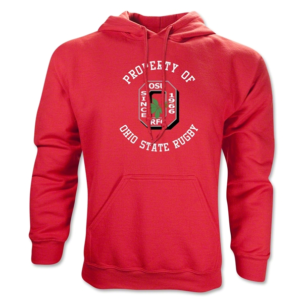 Property of Ohio State Rugby Hoody (Red)