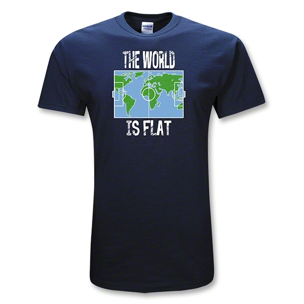 The World is Flat Soccer T-Shirt (Navy)
