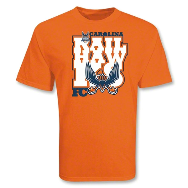 Carolina Railhawks Soccer T-Shirt (Orange)