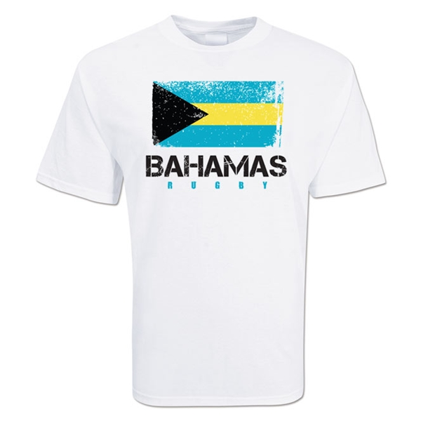 Bahamas Country Rugby Flag T-Shirt