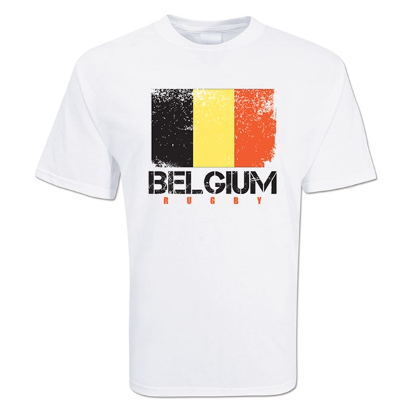 Belgium Country Rugby Flag T-Shirt