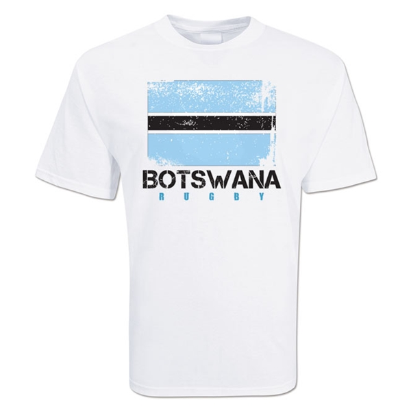 Botswana Country Rugby Flag T-Shirt