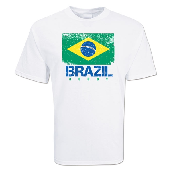 Brazil Country Rugby Flag T-Shirt