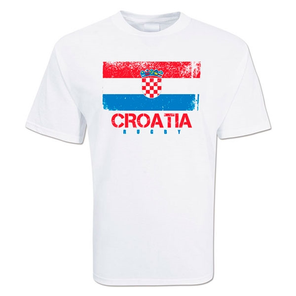 Croatia Country Rugby Flag T-Shirt