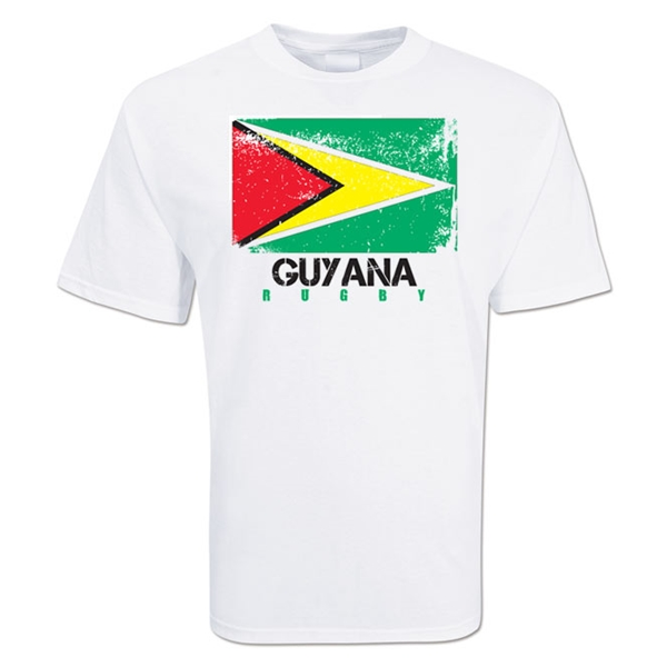 Guyana Country Rugby Flag T-Shirt