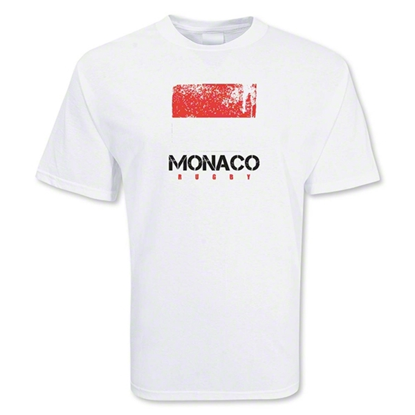 Monaco Country Rugby Flag T-Shirt