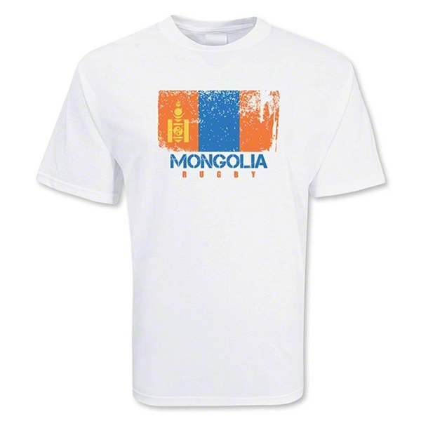 Mongolia Country Rugby Flag T-Shirt