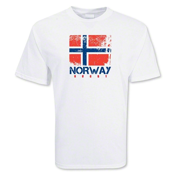 Norway Country Rugby Flag T-Shirt
