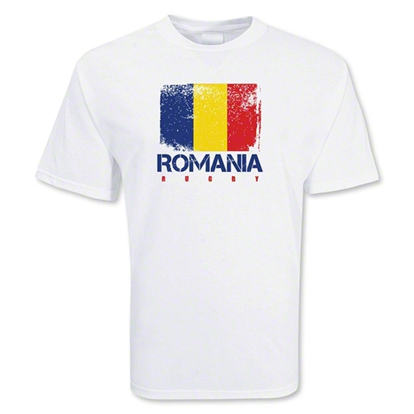 Romania Country Rugby Flag T-Shirt