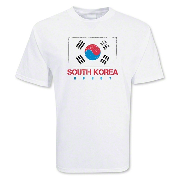 South Korea Country Rugby Flag T-Shirt