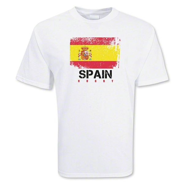 Spain Country Rugby Flag T-Shirt