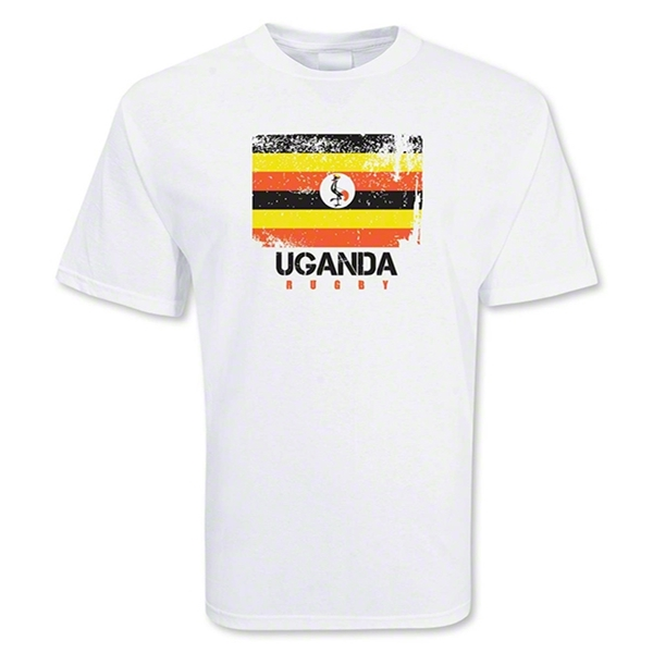 Uganda Country Rugby Flag T-Shirt