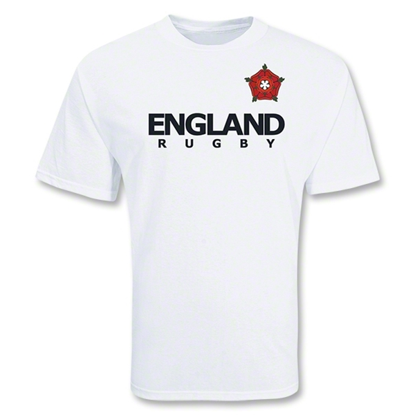 England Country Crest Rugby T-Shirt (White)