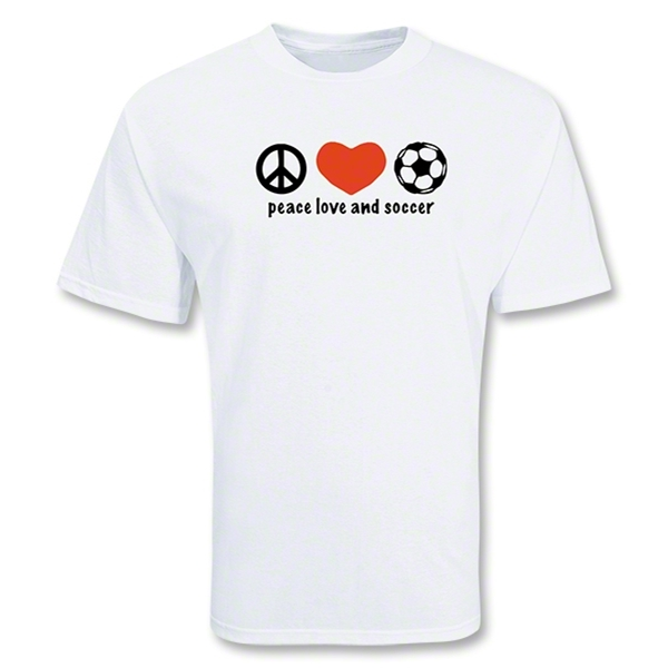 Peace Love & SOCCER T-Shirt