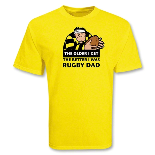 Older I Get SS Rugby T-Shirt (Yellow)