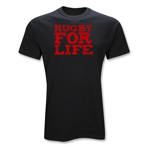 Rugby For Life T-Shirt (Black)