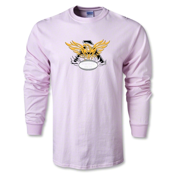Old White Rugby Club LS T-Shirt (Pink)