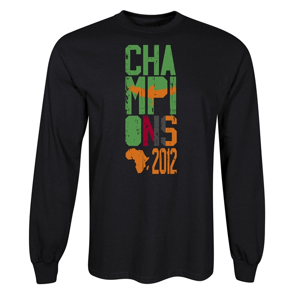 Zambia 2012 Champions of Africa Long Sleeve T-Shirt