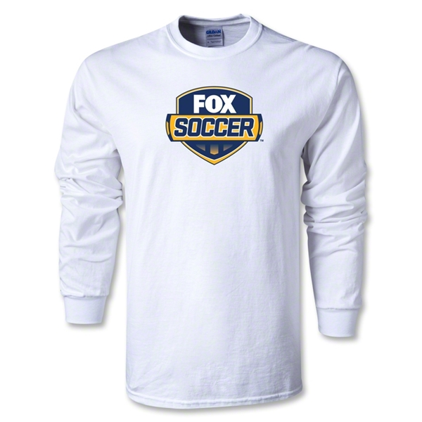 Fox Soccer LS Youth T-Shirt (White)