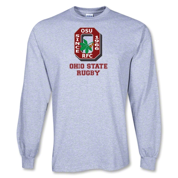 Ohio State Rugby LS T-Shirt (Gray)