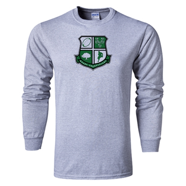 Rugby Connecticut Long Sleeve Shield T-Shirt (Grey)