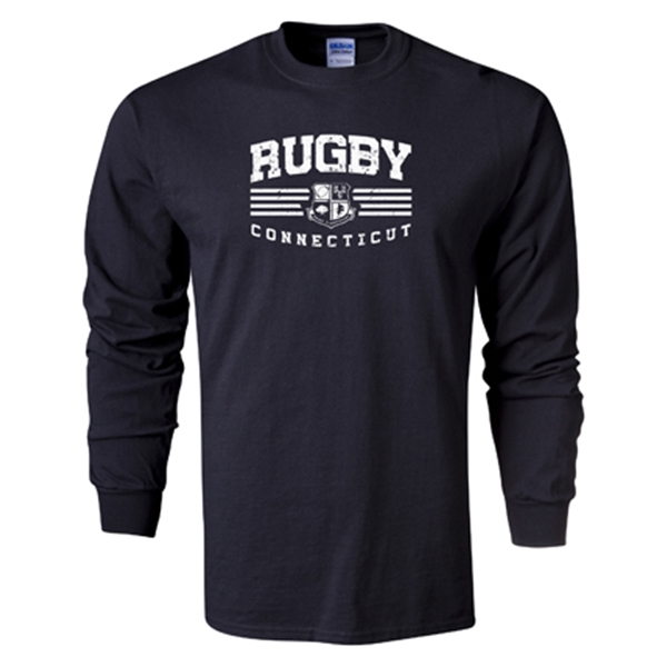 Rugby Connecticut Long Sleeve Statement T-Shirt (Black)