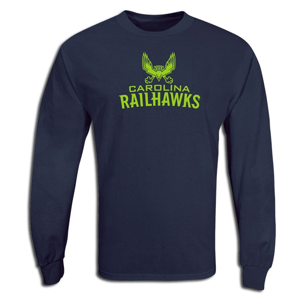 Carolina Railhawks LS Soccer T-Shirt (Navy)