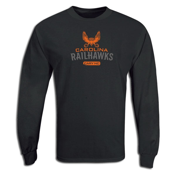 Carolina Railhawks LS Soccer T-Shirt (Black)