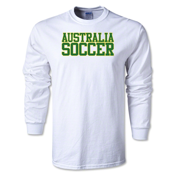 Australia Soccer Supporter LS T-Shirt (White)