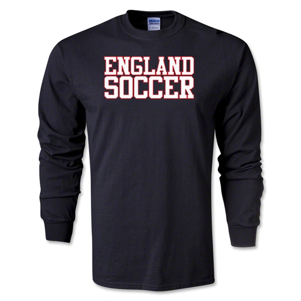 England Soccer Supporter LS T-Shirt (Black)