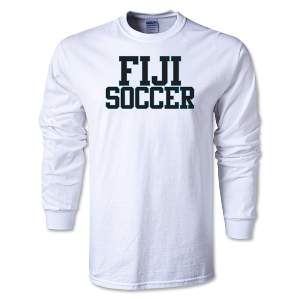 Fiji Soccer Supporter LS T-Shirt (White)
