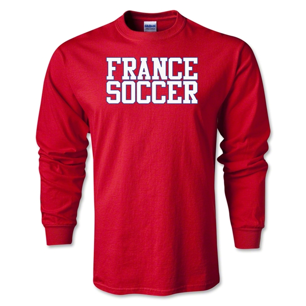 France Soccer Supporter LS T-Shirt (Red)