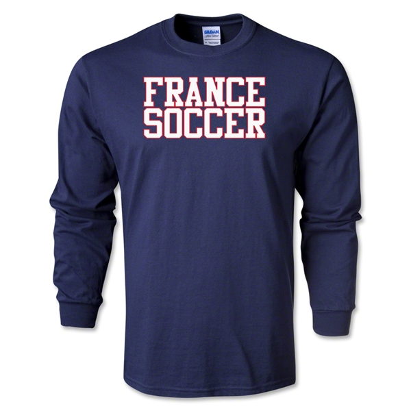 France Soccer Supporter LS T-Shirt (Navy)