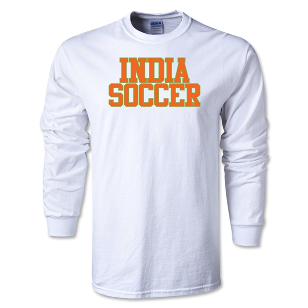 India Soccer Supporter LS T-Shirt (White)